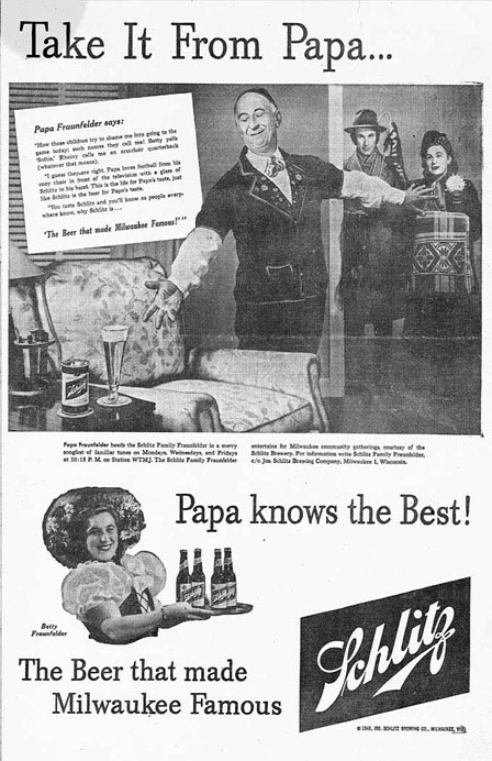 1949 Ad in Milwaukee Newspaper